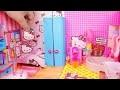 5 Maisons De Poupées Miniatures Diy ~ Bonjour Chambres Kitty, Chambre Princesse, Et Plus