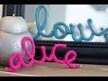 DIY Prénom en tricotin