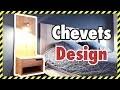 CREATION DE CHEVETS / TABLE DE NUIT DESIGN EN BOIS MASSIF