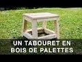 Tabouret / Marchepied en bois de palettes