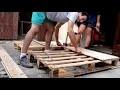 Fabrication d'une tête de lit en bois de palette