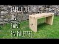 Fabriquer un banc en palettes (DIY pallet wood slat bench)