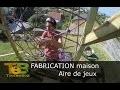 Fabrication maison d'une aire de jeux, un bricolage pour les enfants.