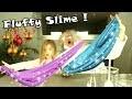 Fabrication de Fluffy Slime bleu pailleté de Noel - DIY anti-stress avec le savant fou !