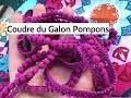 Comment Coudre du Galon Pompons - Tutoriel Couture