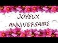 Joyeux anniversaire - carte virtuelle d'anniversaire fleurs