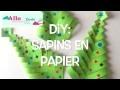 DIY Sapins de Noël en papier ( Bricolage facile pour Noël )