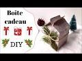Déco de Noël : Fabriquer une boîte cadeau maison en papier