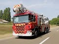 Auto Plus au volant d'un camion de pompier
