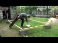 Par philordi Reffection de mon 1er abris de jardin Phase 2 le cadre du plancher partie 1 assemblage