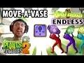 Lets Play PVZ 2: Move Vase Power Up! Vasebreaker Endless Waves (Face Cam Gameplay)