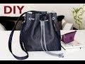 DIY Denim Bucket Bag // DIY Sac Seau en denim