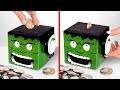 Fabrication d'une tirelire Hulk en carton avec les yeux qui bougent
