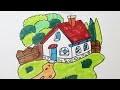 Comment dessiner une maison avec un jardin