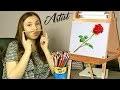 Dessin d'une rose par Lana ! Cours de dessin monochrome - Drawing Lesson !