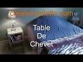 comment fabriquer une table de chevet  en palette