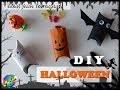 DIY HALLOWEEN facile : transformez un rouleau de papier toilette en contenant à bonbons!!!