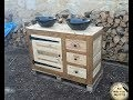 Meuble sous vasque en bois de palette