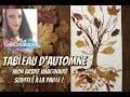 TABLEAU D'AUTOMNE - MON ARBRE SOUFFLÉ  À LA PAILLE ! ATELIER PEINTURE ENFANT ðŸ�' SABCREATIONS