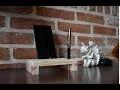 Fabriquer un support de téléphone pour bureau en bois de palette.