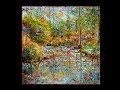 Palette knife landscape, oil painting, by Nathalie JAGUIN