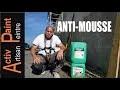 TUTO comment NETTOYER une TOITURE produit pro anti-mousse  ALGIMOUSS