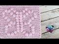Carré papillon pour couverture crochet