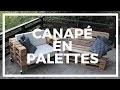 Fabrication d'un canape� en palette avec dossier incline� - Version Courte