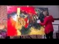 Démonstration de peinture abstraite par Jadis 6