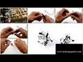 Fabrication de bijoux en biais liberty : boucles d'oreille