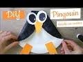 Activité manuelle hiver - pingouin assiette en carton