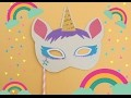 Tuto masque de licorne
