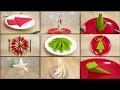 Pliage de serviette Noël - 9 tutoriels à tester d'urgence