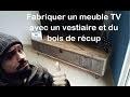 Comment fabriquer un meuble TV avec vestiaire et bois de récup by Adopteunecaisse