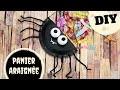 TUTO / DIY Halloween :  Panier à bonbons araignée (Bricolage facile pour enfants)