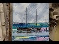 PEINTURE AU COUTEAU : LES BATEAUX  (KNIFE PAINTING) par Nelly LESTRADE