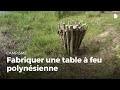 Fabriquer une table à feu | Construire des installations en forêt