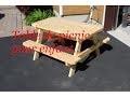Table de picnic pour enfants