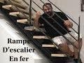 38# Rampe D'escalier en fer