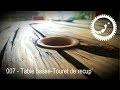 Table Basse avec un touret de récup' - Spool coffee table