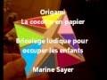 Origami : la cocotte en papier, bricolage ludique pour occuper les enfants