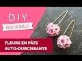 DIY : Comment réaliser des boucles d'oreilles fleurs de cerisier en pâte auto-durcissante Padico ?