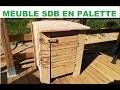FAIRE UN MEUBLE DE SALLE DE BAIN EN PALETTE