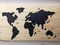 Comment réaliser une carte du monde en bois de palette / Pallet World Map