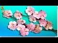 Origami : 🌸 Sakura, branche fleurs de cerisier