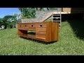 Travail du bois - construction d'un meuble design de Salle de Bain /  furniture design for bathrooms