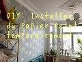 DIY: Installer Du Papier Peint Temporairement