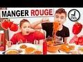 ON MANGE QUE LA NOURRITURE ROUGE PENDANT 24H CHALLENGE