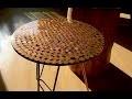 Table résine epoxy et pièces de monnaie tutoriel DIY
