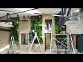Installation de mur végétal intérieur en plantes stabilisées
